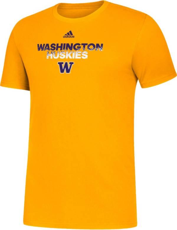 adidas Men's Washington Huskies Gold Spray My Name T-Shirt product image