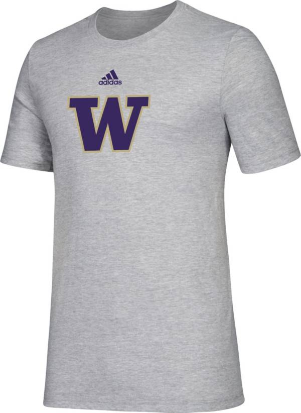 adidas Men's Washington Huskies Grey Big Logo Amplifier T-Shirt product image