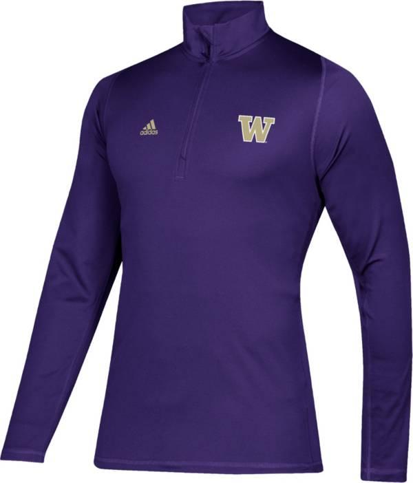 adidas Men's Washington Huskies Purple Free Lift Quarter-Zip Shirt product image