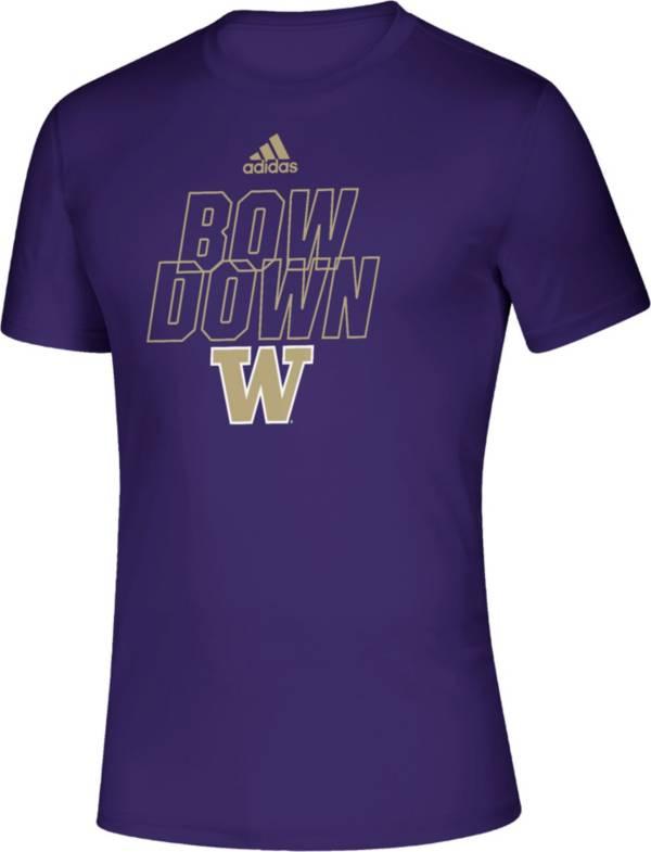 adidas Men's Washington Huskies Purple Locker Motto T-Shirt product image
