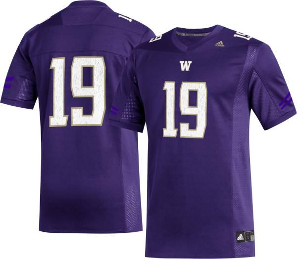 adidas Men's Washington Huskies #19 Purple Replica Football Jersey product image