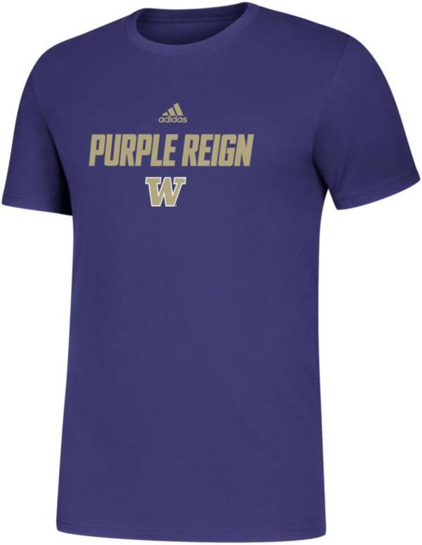 adidas Men's Washington Huskies Purple Slogan T-Shirt product image