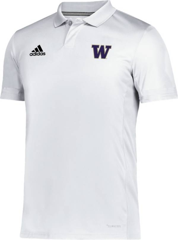 adidas Men's Washington Huskies Team 19 Sideline White Polo product image