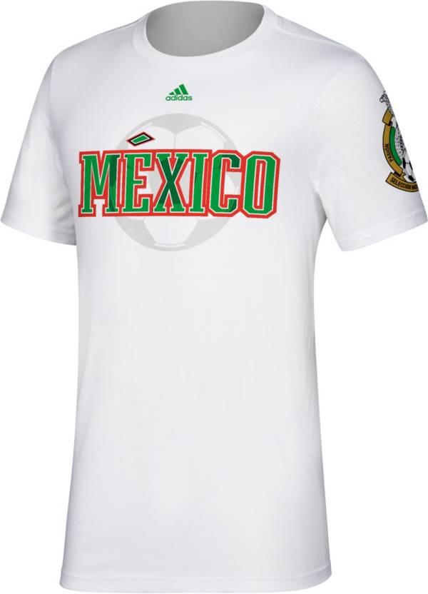 adidas Men's Mexico Team Name White T-Shirt product image