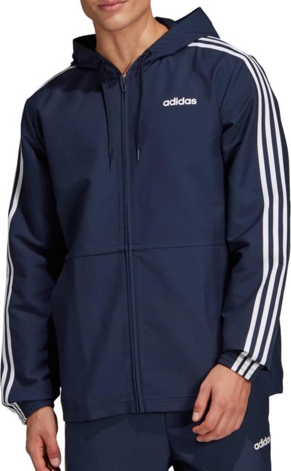 adidas Men's Essentials 3-Stripes Woven Windbreaker Jacket (Regular and Big & Tall) product image