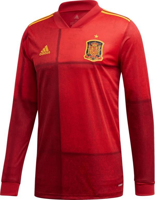 adidas Men's Spain '20 Stadium Home Replica Long Sleeve Jersey product image