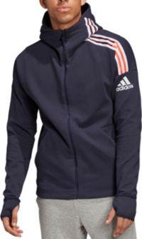 adidas Mens ZNE 2 Full Zip Hooded Training Sweat Grey Top Sports Training