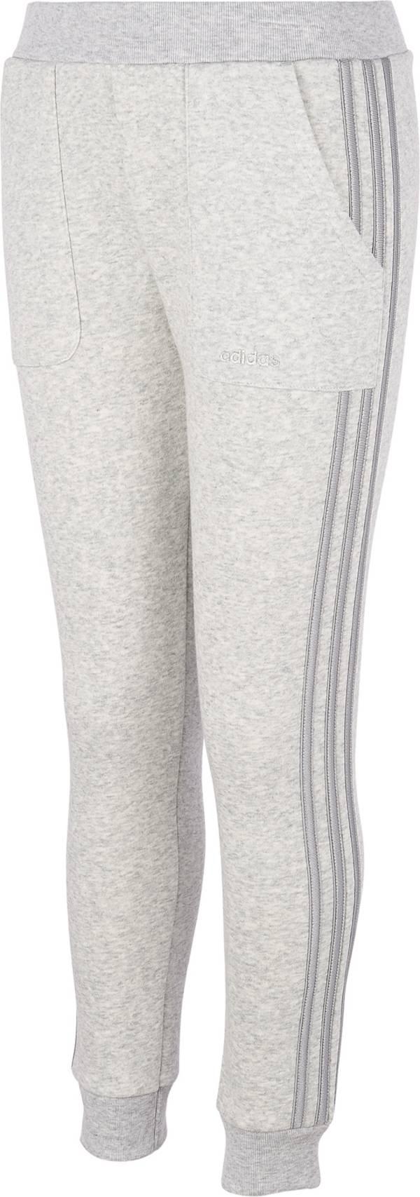 adidas Little Girls' Fleece Stripe Jogger Pants product image