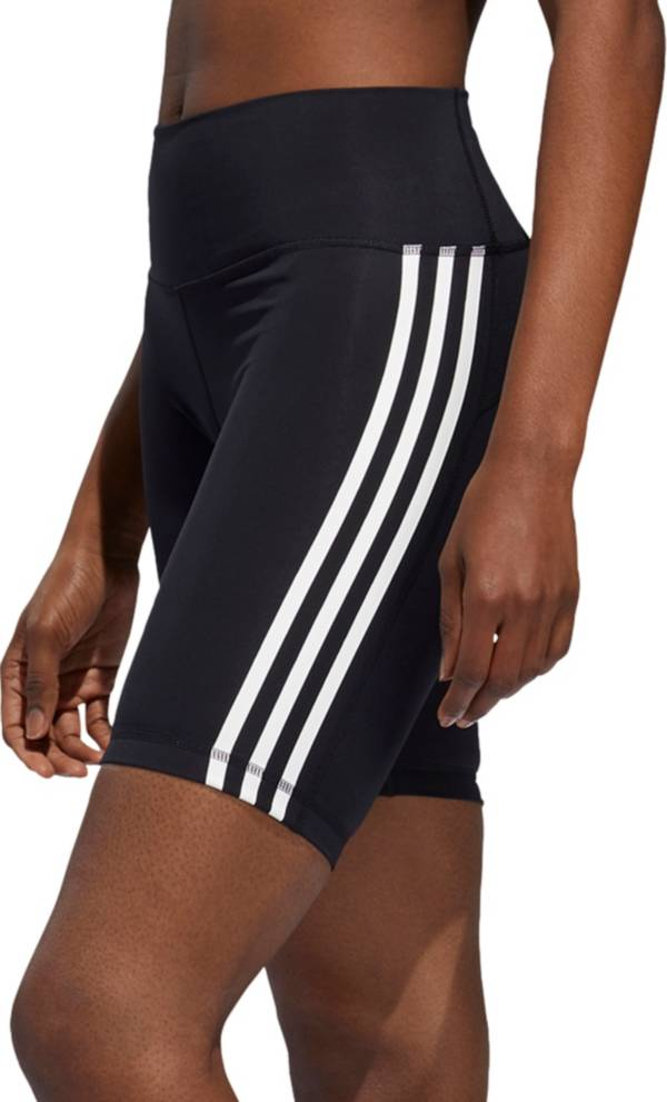 adidas Women's Believe This High Rise 3 Stripe Biker Shorts product image
