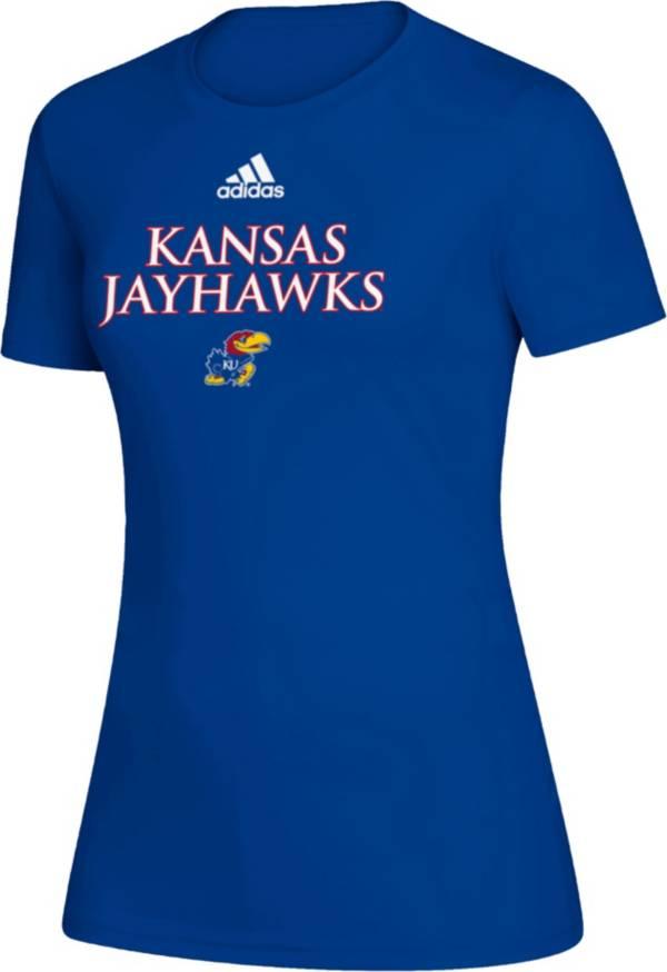 adidas Women's Kansas Jayhawks Blue Creator T-Shirt product image