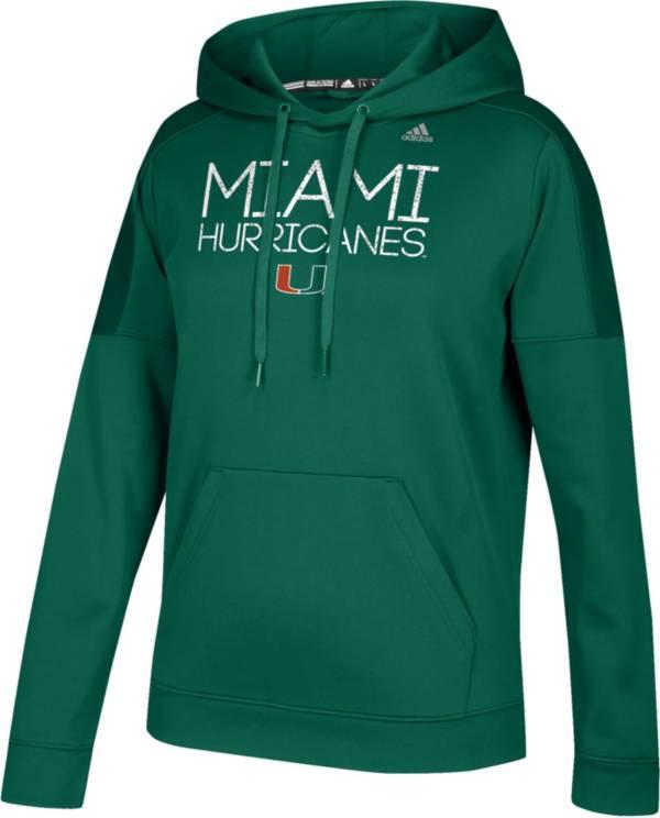adidas Women's Miami Hurricanes Green Performance Hoodie product image