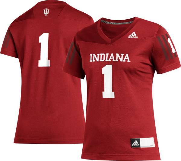 adidas Women's Indiana Hoosiers #1 Crimson Replica Football Jersey product image
