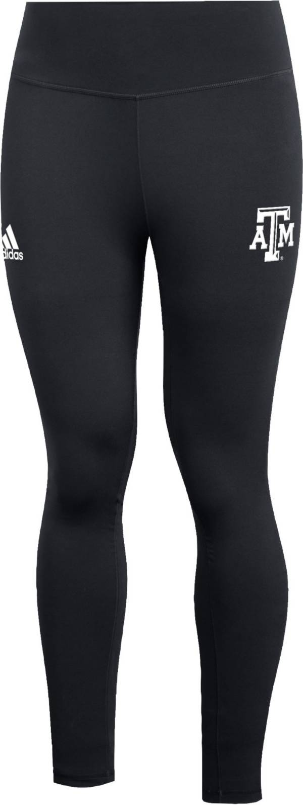 adidas Women's Texas A&M Aggies 7/8 Believe This Performance Black Tights product image