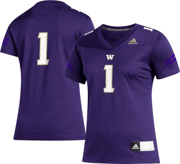 adidas Women's Washington Huskies #1 Purple Replica Football Jersey product image