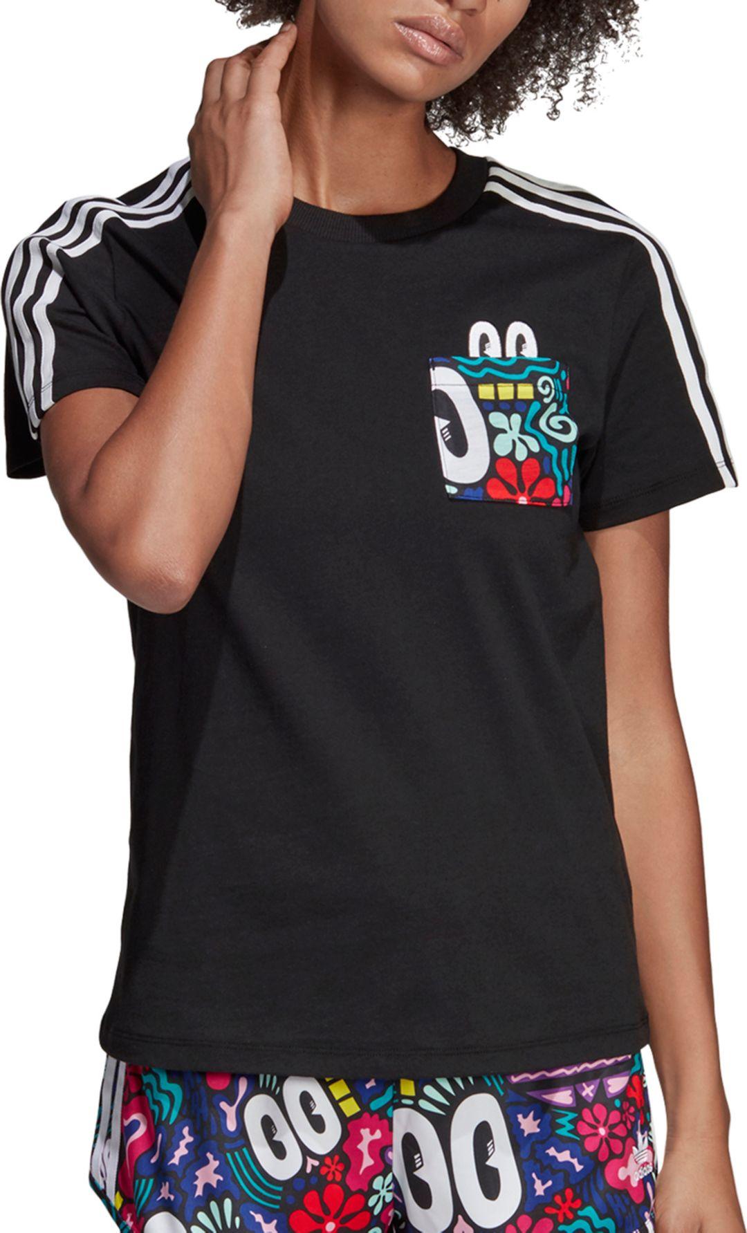 2b35032c adidas Originals Women's Scribble Print Trefoil T-Shirt. noImageFound.  Previous