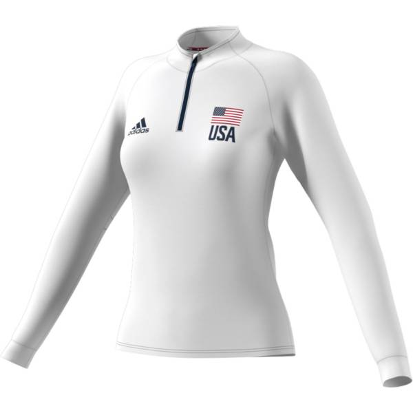 adidas Women's USA Volleyball Aeroready ¼ Zip Jersey product image