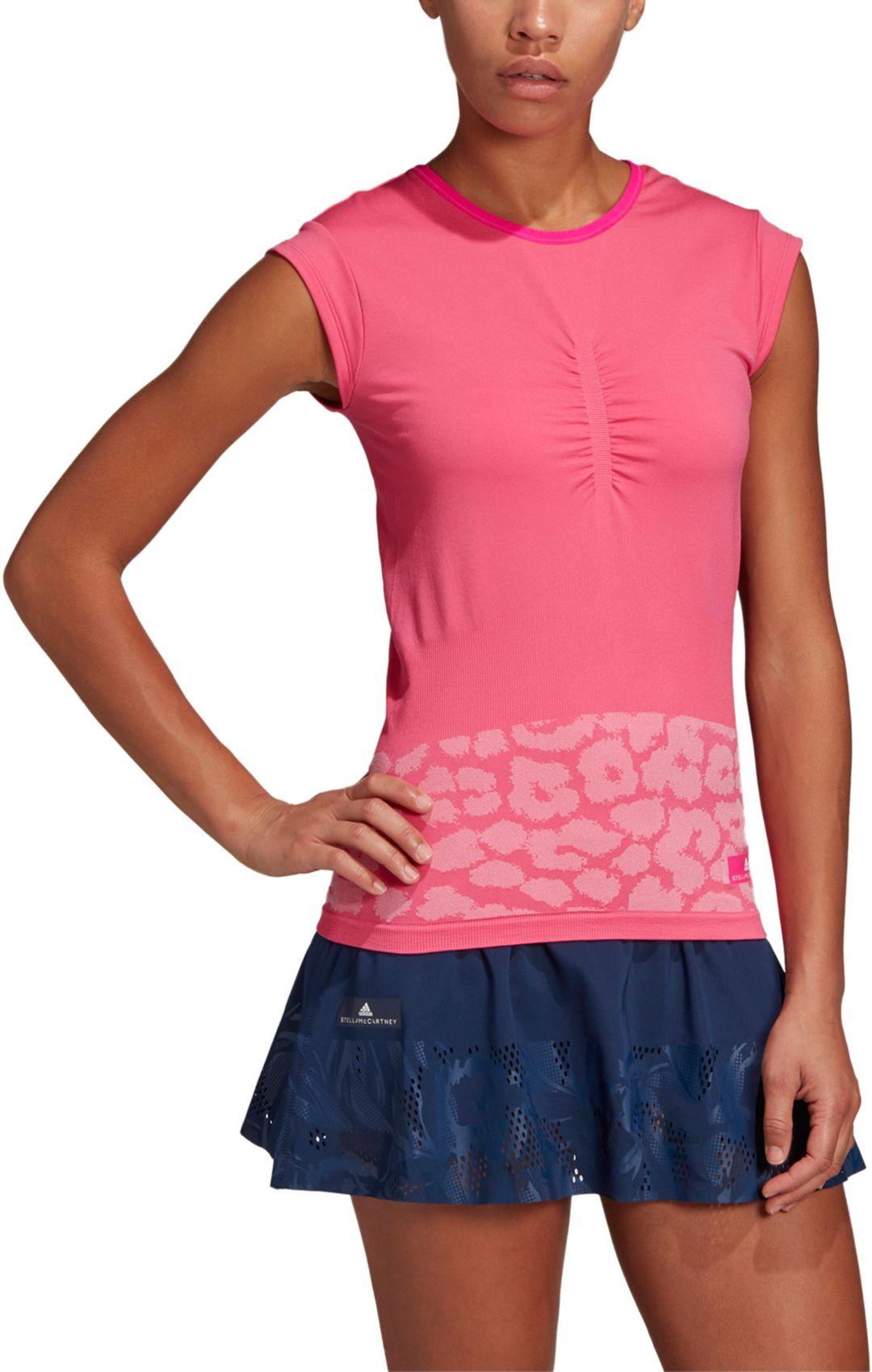 adidas Women's Stella McCartney Leopard Print Tennis T Shirt