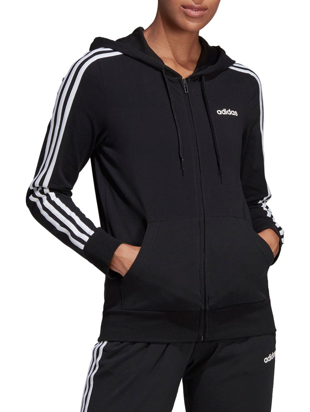 adidas 3 Stripes Hoodie Black | Footshop