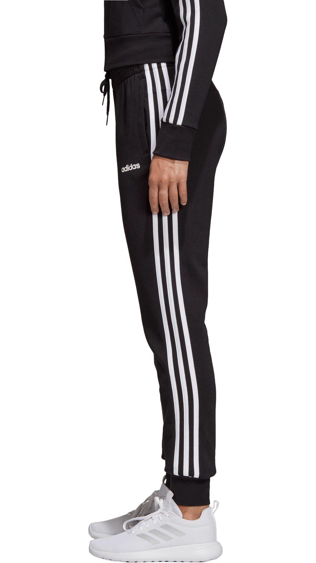 ccd7f971 adidas Women's Essentials 3-Stripe Cotton Fleece Jogger Pants.  noImageFound. Previous