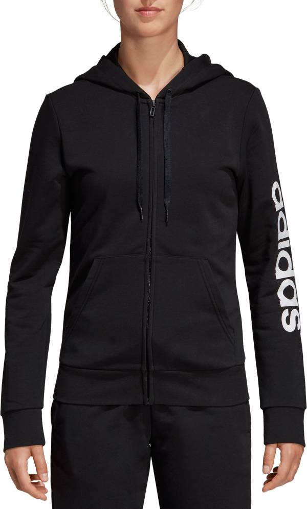 adidas Women's Essentials Linear Full Zip Hoodie product image