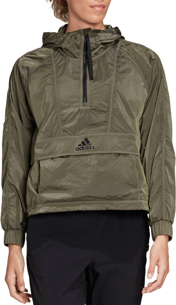 adidas Women's Wind Ready Anorak 1/2 Zip Cropped Pullover product image