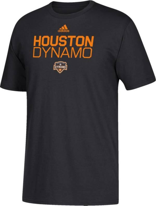 adidas Youth Houston Dynamo Big Logo Black T-Shirt product image