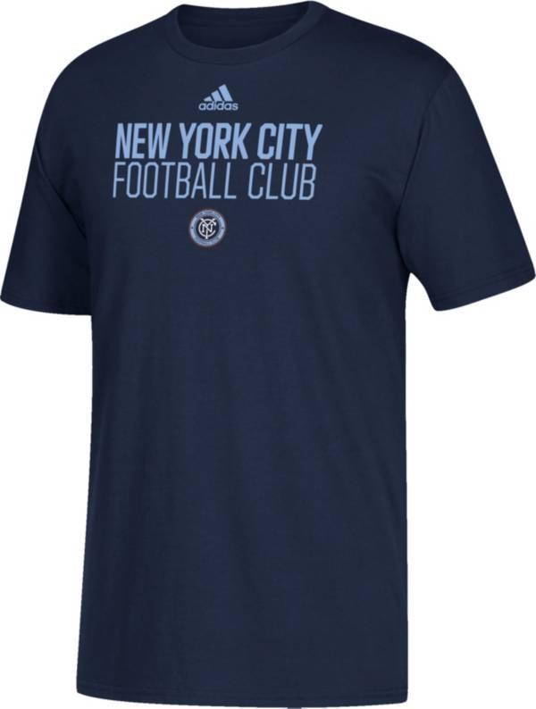 adidas Youth New York City FC Big Logo Navy T-Shirt product image
