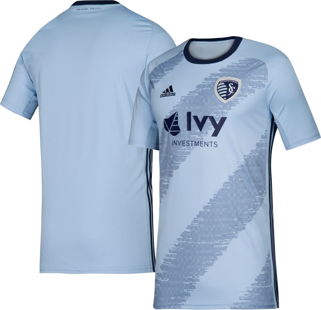 wholesale dealer a8300 b25bc adidas Youth Sporting Kansas City Primary Replica Jersey