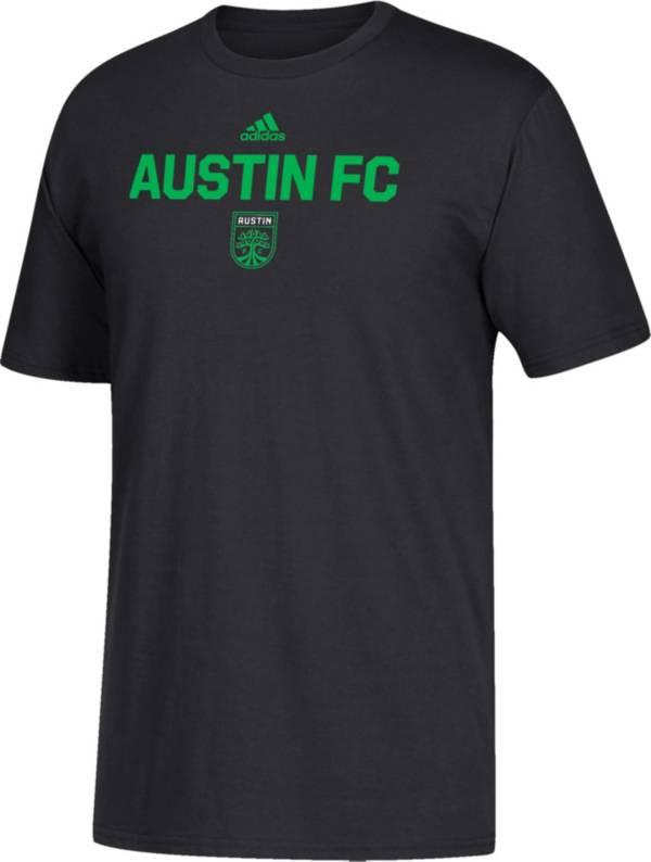 adidas Youth Austin FC Wordmark Black T-Shirt product image