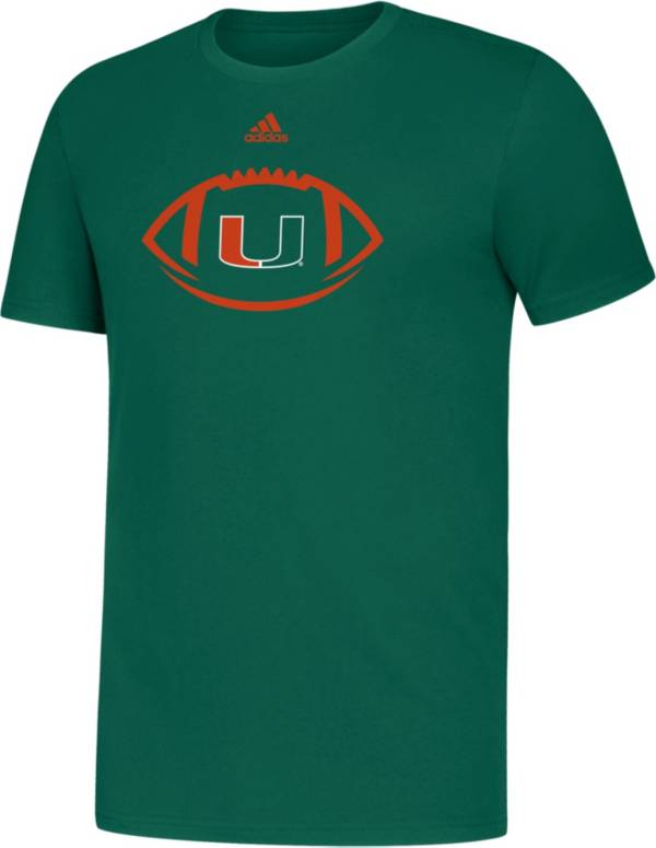 adidas Youth Miami Hurricanes Green Locker Football Icon Sideline T-Shirt product image