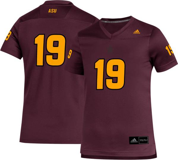 adidas Youth Arizona State Sun Devils #19 Maroon Replica Football Jersey product image