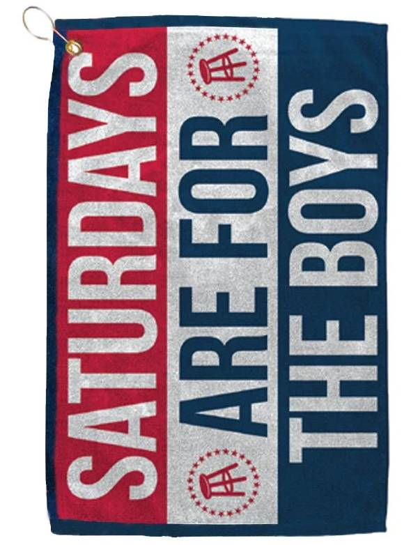 Barstool Sports Saturdays Are For The Boys Golf Towel product image