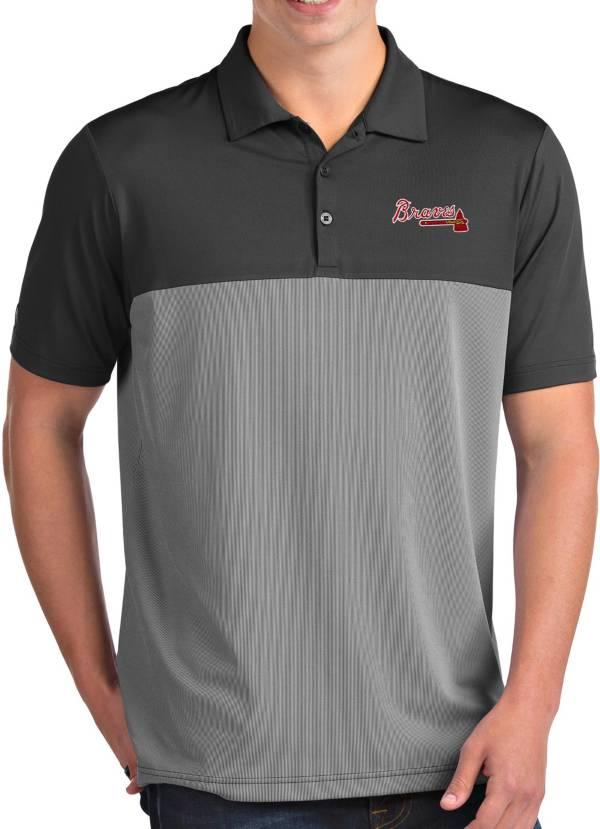Antigua Men's Atlanta Braves Venture Grey Performance Polo product image