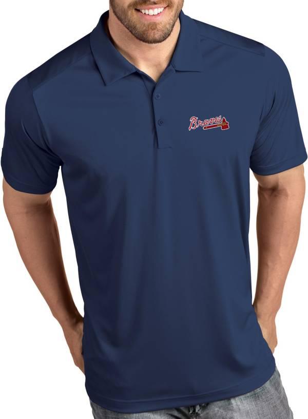 Antigua Men's Atlanta Braves Tribute Navy Performance  Polo product image
