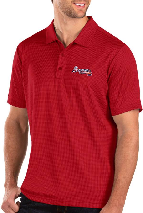 Antigua Men's Atlanta Braves Red Balance Polo product image