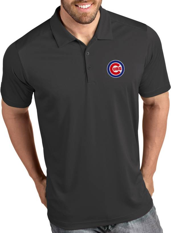 Antigua Men's Chicago Cubs Tribute Grey Performance  Polo product image