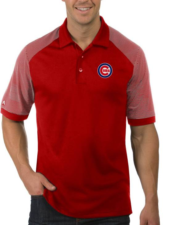 Antigua Men's Chicago Cubs Engage Red Polo product image