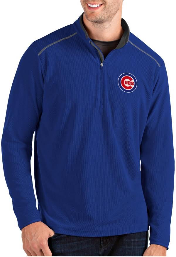Antigua Men's Chicago Cubs Royal Glacier Quarter-Zip Pullover product image