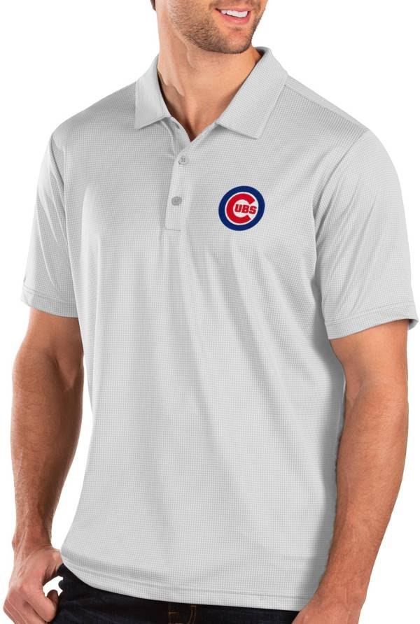 Antigua Men's Chicago Cubs White Balance Polo product image