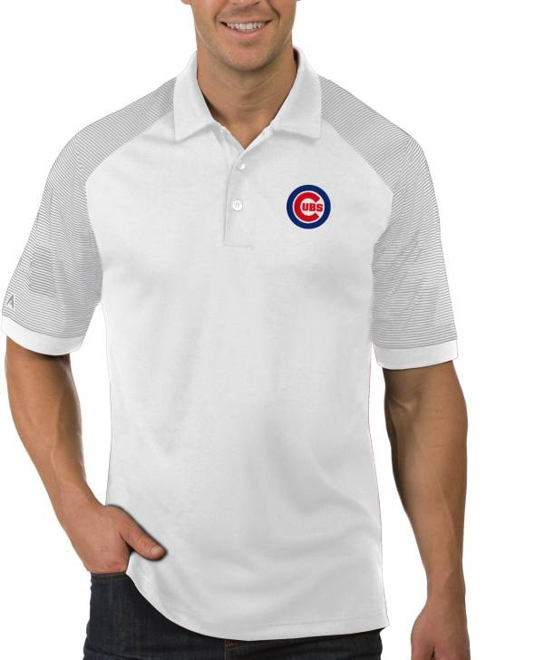 Antigua Men's Chicago Cubs Engage White Polo product image