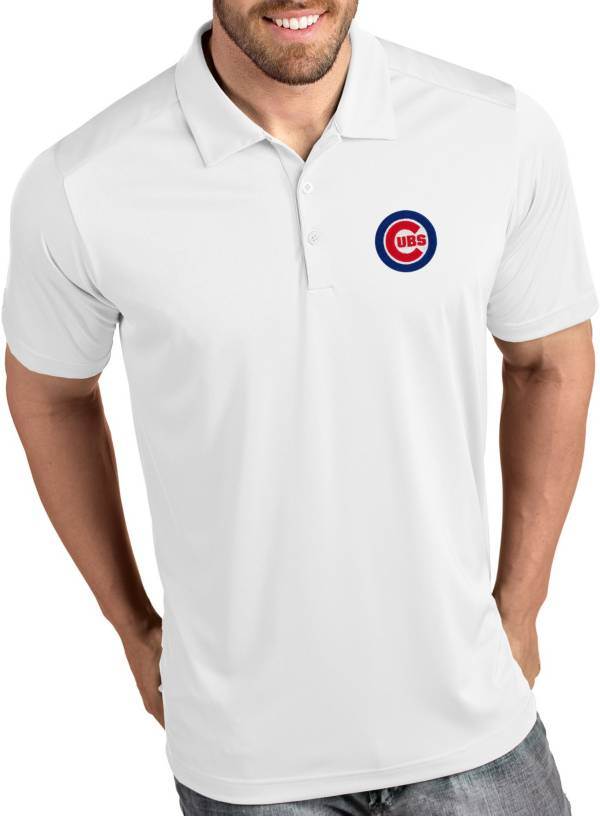 Antigua Men's Chicago Cubs Tribute White Performance  Polo product image