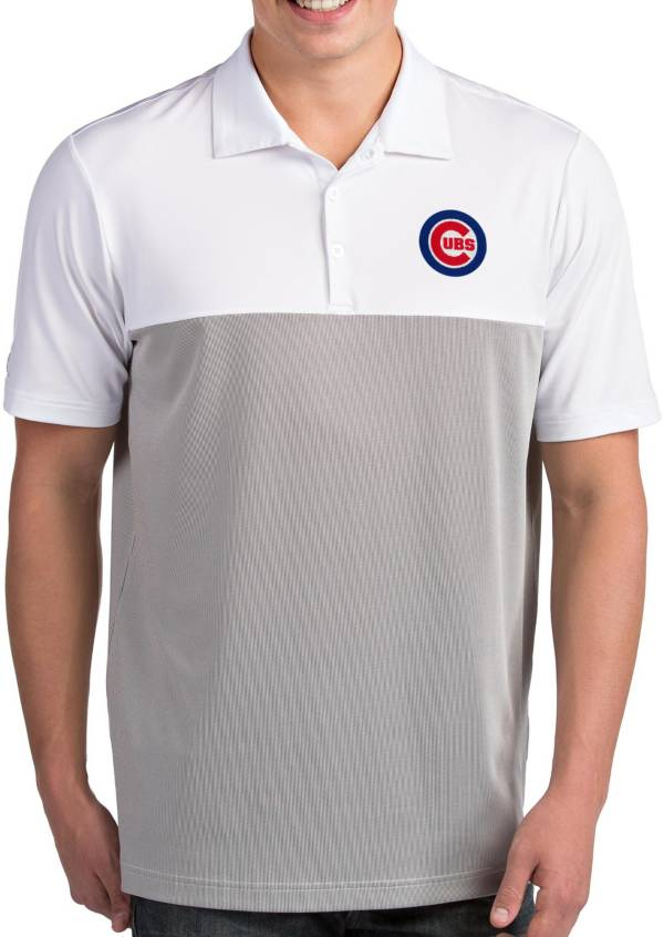 Antigua Men's Chicago Cubs Venture White Performance Polo product image