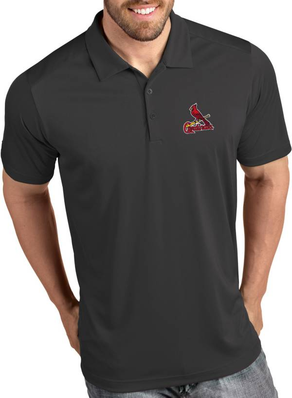 Antigua Men's St. Louis Cardinals Tribute Grey Performance  Polo product image