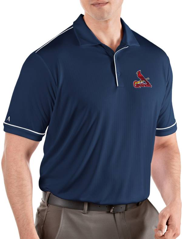 Antigua Men's St. Louis Cardinals Salute Navy Performance Polo product image