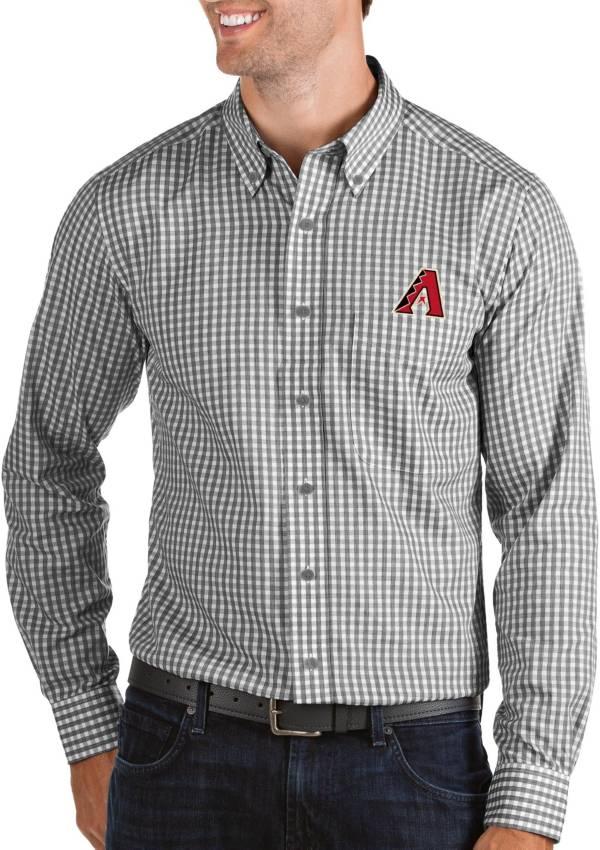 Antigua Men's Arizona Diamondbacks Structure Black Long Sleeve Button Down Shirt product image
