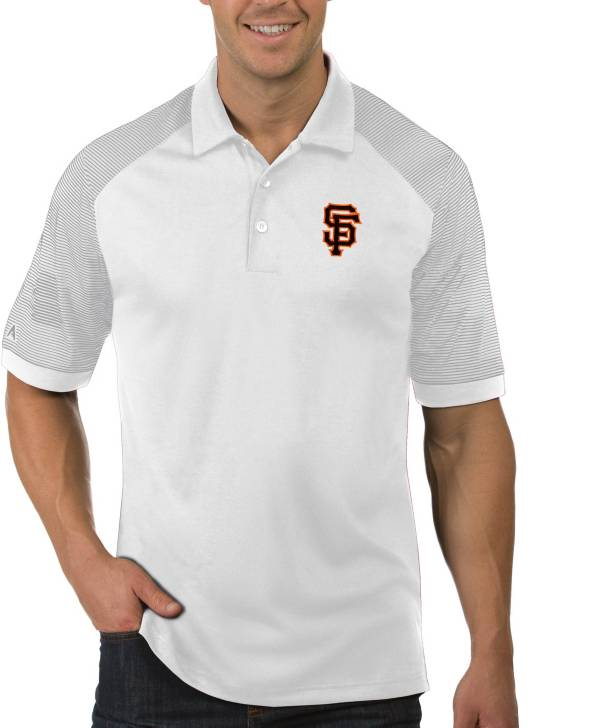 Antigua Men's San Francisco Giants Engage White Polo product image