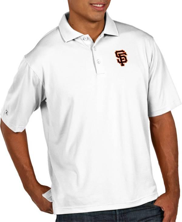 Antigua Men's San Francisco Giants Pique White Performance Polo product image