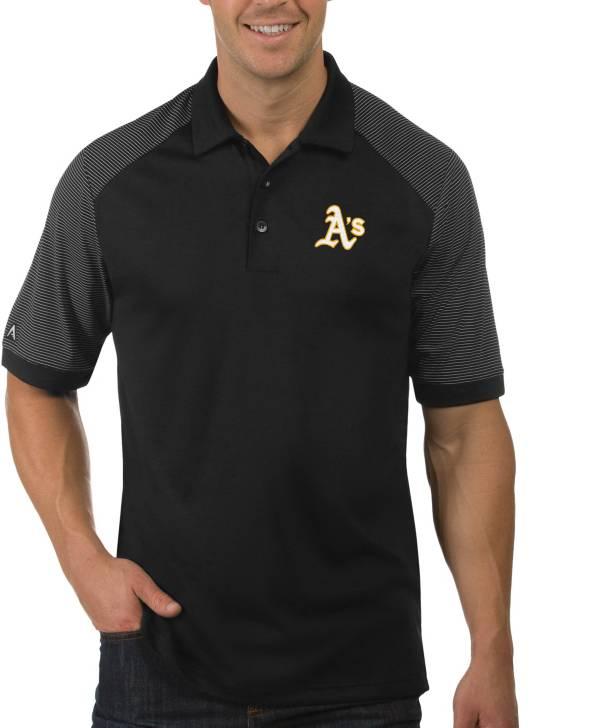 Antigua Men's Oakland Athletics Engage Black Polo product image