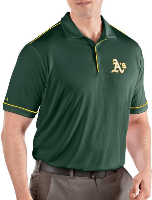 Antigua Men's Oakland Athletics Salute Green Performance Polo product image