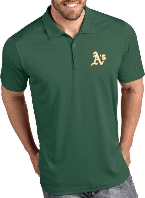 Antigua Men's Oakland Athletics Tribute Green Performance  Polo product image